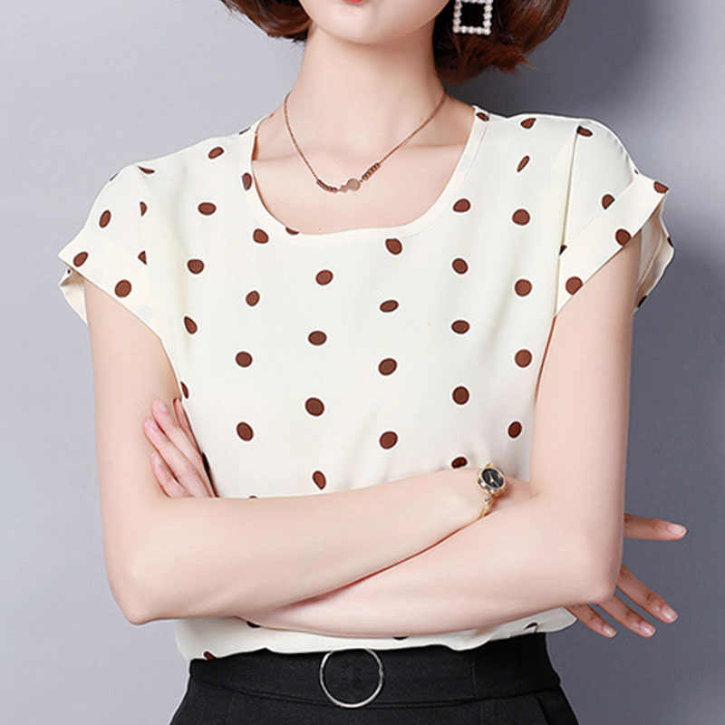 45fad326064 Detail Feedback Questions about Fashion women tops and blouses 2019 chiffon  white blouse shirt short print women's clothing plus size ladies tops ...