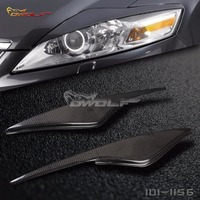 For Ford Mondeo MK4 Real Carbon Fiber Eyebrows Eyelid Headlight Covers 2007 2013 1011156