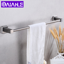 Towel Bar Single Wall Mounted Bathroom Towel Rack Hanging Holder Stainless Steel Robe Towel Rail Hanger Shelf Bathroom Hardware стоимость