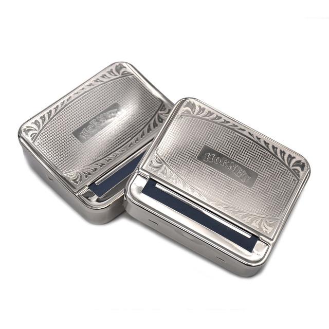 """ HORNET "" 70MM Silver Metal Rolling Machine Case Box Rolling Machine for 70MM Papers Cigarette Maker Roller Handroller"