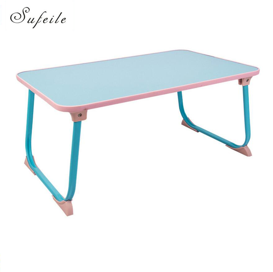 sufeile laptop folding table light foldable table dormitory bed computer desk notebook small desk picnic
