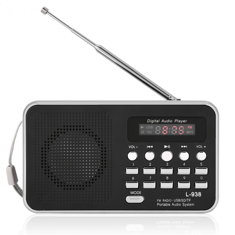 In Intellektuell Tragbare Digitale Radio Mini Audio Player Hifi Musik Lautsprecher Unterstützung Fm Radio Tf Sd-karte Usb Aux W/display Neue Duftendes Aroma