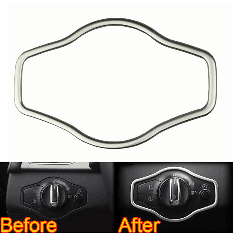 For Audi A4 B8 A5 Q5 Headlight Lamp Adjust Switch Cover Trim Decor Frame Car-styling Sticker Interior Car Accessories 2008-2015