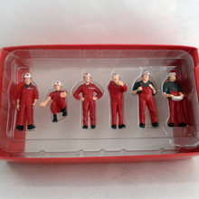 1:50 MAMMOET строительные фигурки рабочих с красным
