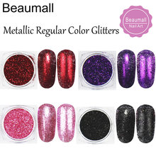 2g/pot ,0.2mm (1/128 008) Metallic Regular Colors Glitters Dusts Acrylic Dazzling Glitters Powders For Nail,Tatto Art,Make Up.(China)