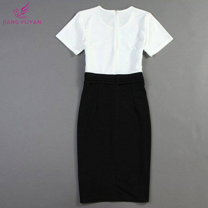Vestidos Fashion Casual Dress Women Office Las Sheath White Black Bodycon Dresses Woman Clothes Roupas Femininas Dropshipping In From S