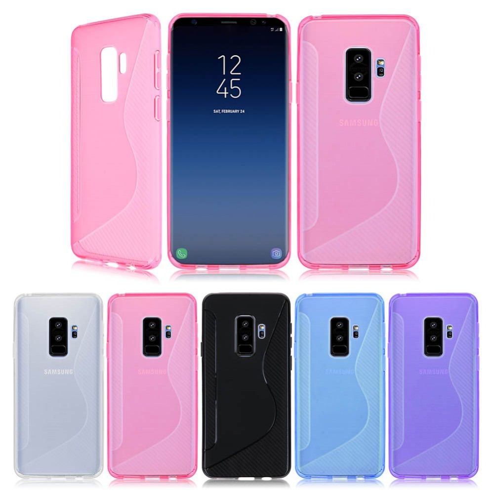 Phone Accessory Us 1 89 Sanheshun Coque Fashion Phone Accessory Half Clear S Line Case For Samsung Galaxy S9 S9 Plus Slim Cover Portector Capa In Fitted Cases From