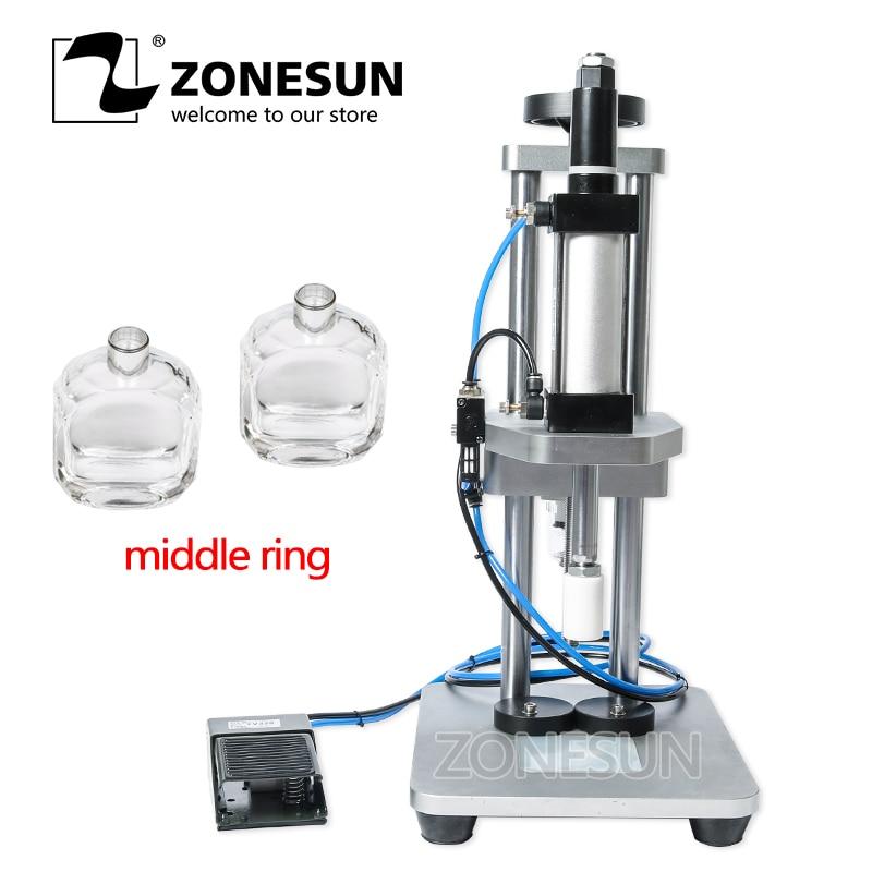 ZONESUN pneumatique parfum bouteille en verre Machine de capsulage de bureau parfum collier petite bouteille sertissage Machine de pressage