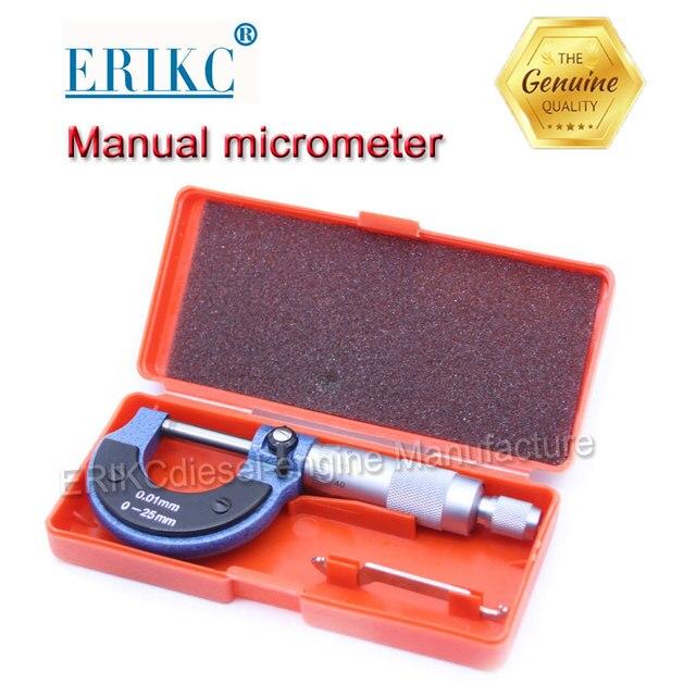 ERIKC E1024016 Manual micrometer for diesel injector adjusting gasket, Injection lift measurement tool for injector shim