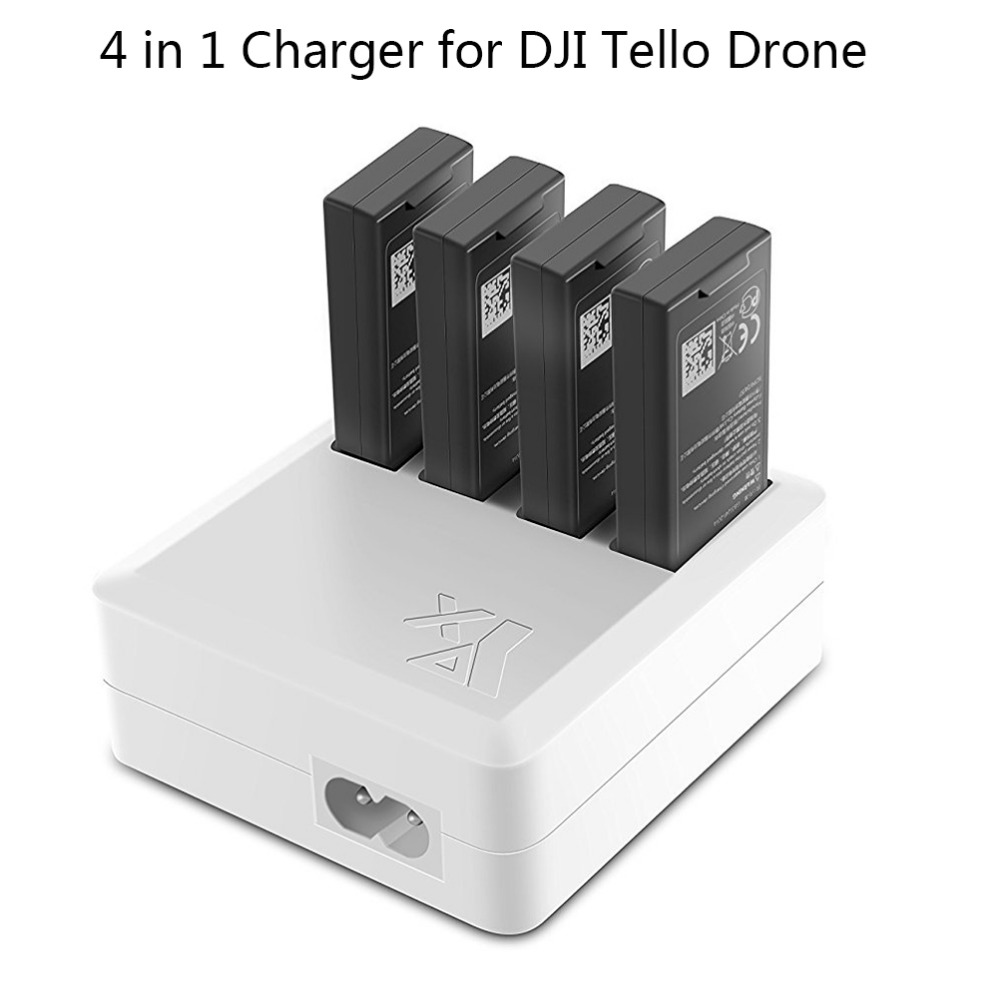 JointVictory 4 in 1 Parallel Multi Battery Rapid Charger Hub RC Intelligent Fast Charging for DJI Tello Drone