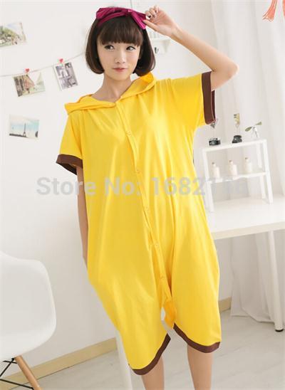 034b2cc43c Adult Pikachu Pajamas Short Sleeve Animal Onesie Hoodie Pikachu Summer  Onesies Costume Unisex 100% Cotton Pyjamas Sleepwear-in Pajama Sets from  Underwear ...