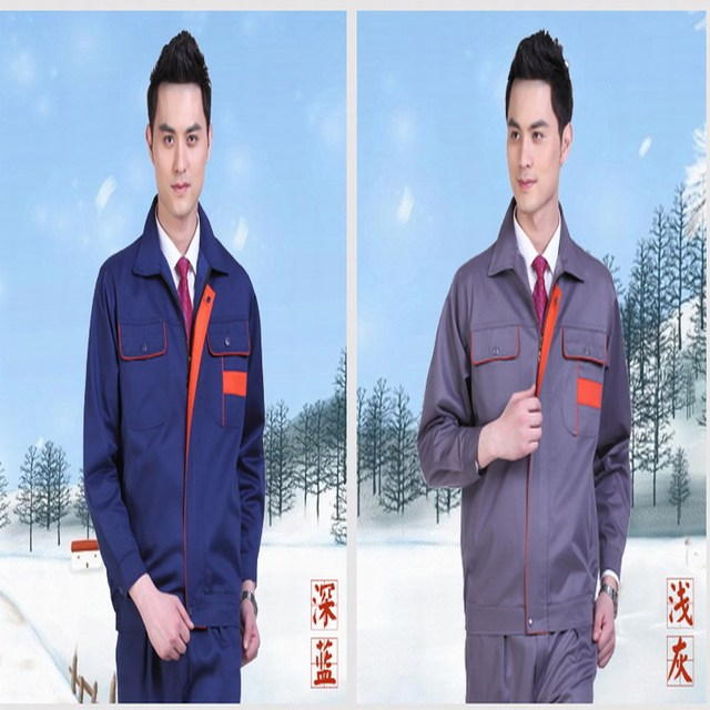 Spring and autumn work wear set workwear protective clothing male clothing