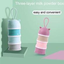 3 уровневые Мультяшные коробки для детского молока и порошка