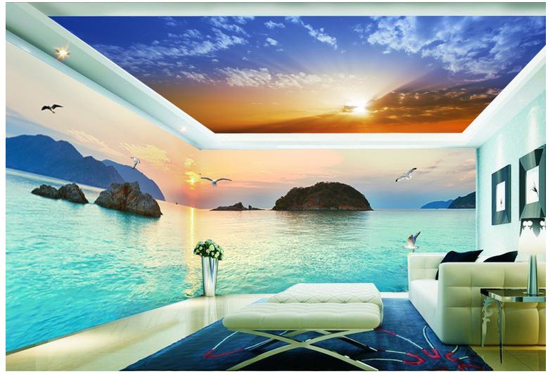 моему фотопечать на потолке в спальне морская интернете имеется несколько