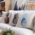 Decorative Cotton Linen Cushion Cover 45X45cm Geometric Patterns Pineapple Tropic Almofada Sofa Car Bedding Throw Pillow Case
