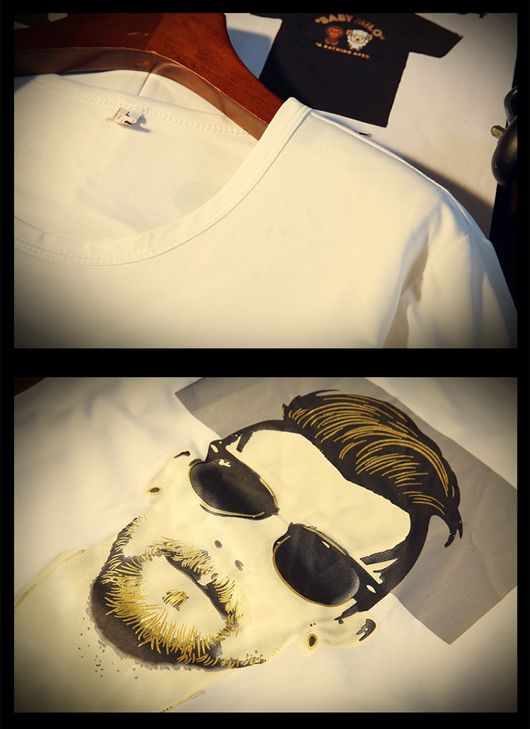 New Arrival Men t shirt Print T-shirt Men High Quality Cotton Short Sleeve T Shirts Men Loose O-Neck T-shirts Plus Size S-4XL 29