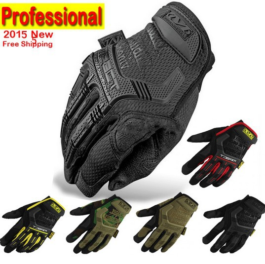 MECHANIX Tactical Gloves US Seal Army Military Outdoor Men's Full Finger Motorcycle Work Leather Gloves Gym Mittens(China)