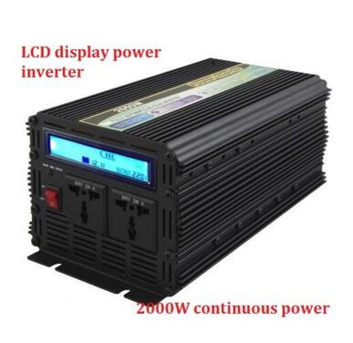 LCD display 12v 220v 2000wcontinuous power (4000 peak power) modified sine wave power inverter for home or outdoor usage lc171w03 b4k1 lcd display screens