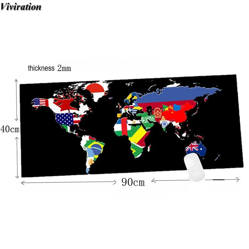 Карта мира Распечатать Новый противоскользящим популярная Мышь Pad 900x400 мм XL Viviration мягкие компьютерный стол мат pad Тетрадь игровой Мышь мат
