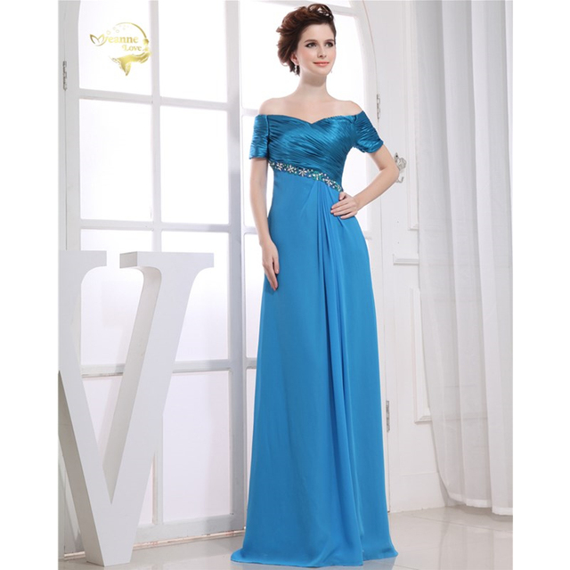 ee9d6760cfcd0 Short Sleeves Evening Dresses Flutter Sleeve Long Women Gown 2019 Chiffon  Special Occasion Dresses Prom Gowns Vestido Longo 0129
