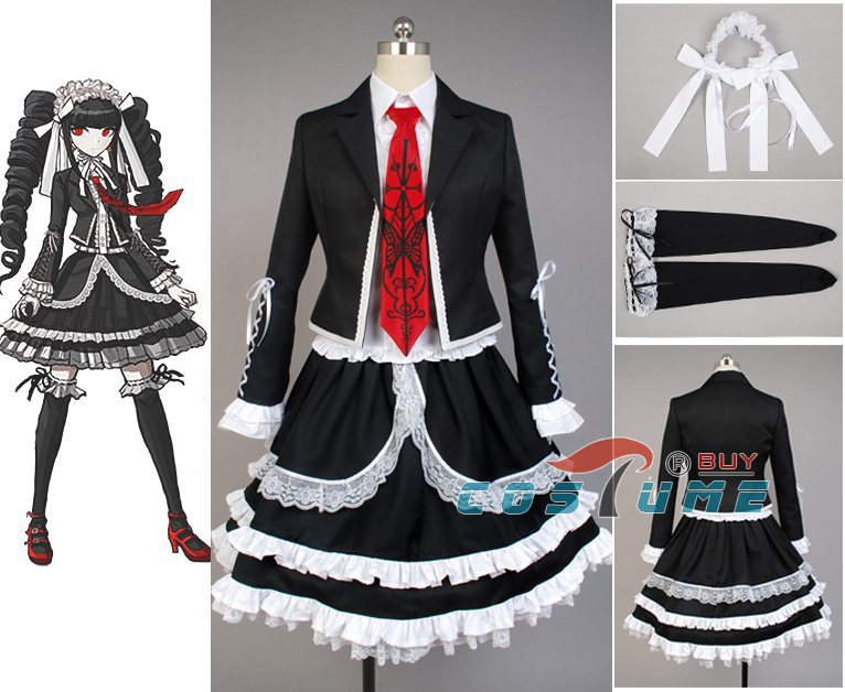 Dangan Ronpa Danganronpa Celestia Ludenberg Cosplay Costume Dress Full Set Women Halloween Costume
