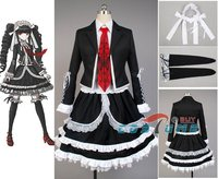 Dangan Ronpa Danganronpa Celestia Ludenberg Cosplay Costume Dress Full Set Women Halloween Costume