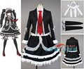 Dangan ronpa danganronpa celestia ludenberg uniforme de manga longa top curto dress anime cosplay halloween