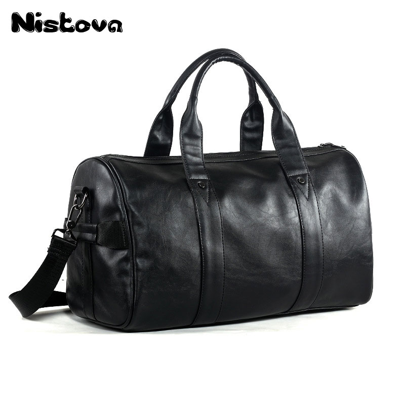 Men Travel Duffle Bags Waterproof Leather Business Handbags Shoulder Bag For Women Large Capacity Weekend Bag qibolu vintage large capacity handbags men shoulder tote bag for travel business sacoche homme bolso hombre bolsa masculina 6002