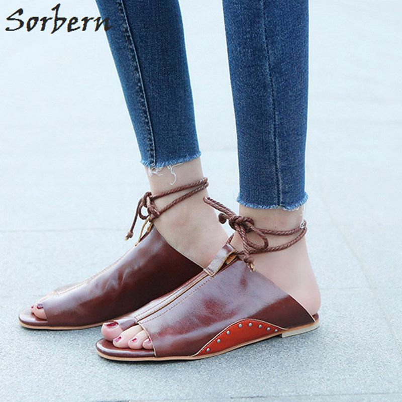 Sorbern Rome Women Sandals Spring 2018 New Ladies Shoes Flat Heels Beach Sandals Women Open Toe Casual Shoe Size 11 Womens Shoes 2018 summer air mesh shoes women casual sneakers women flat shoes new fashion lovers unisex beach shoe casual sandals large size