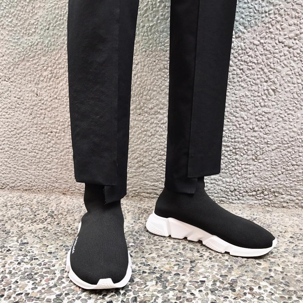 27 Hombres Casual Empalme Tamaño Pantalones 44 Negro Estructura Entrelazado Ropa 2018 Estilista Calle Nuevos Artesanal Más Moda Trajes 5WvqwZfA