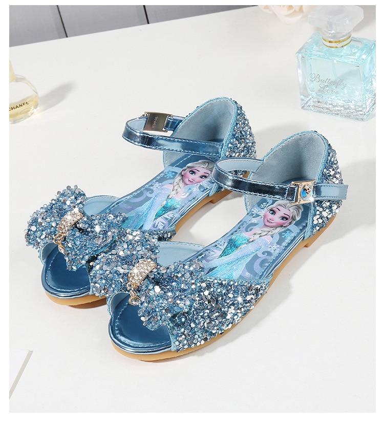 Disney meninas sandálias 2019 nova moda verão