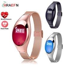Hraefn Z18 Смартфон диапазона Артериального Давления кислорода Монитор Сердечного ритма Smartband bluetooth браслет лучший подарок часы для женщин девушки