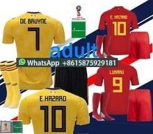 e08b022dcb2 patchHAZARD DE BRUYNE 2018 World Cup Home red Belgium soccer Jersey kits  NAINGGOLAN LUKAKU KOMPANY best