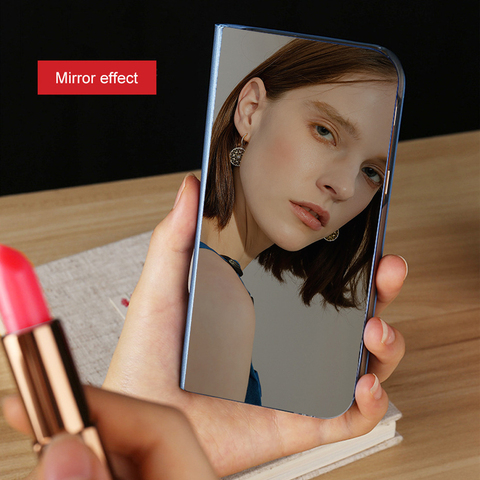 For VIVO Y95 Case Luxury Smart Mirror View Leather Flip Shell Stand Case For VIVO Y91 Cover Phone Shell Coque VIVO Y 91 Y95 Islamabad