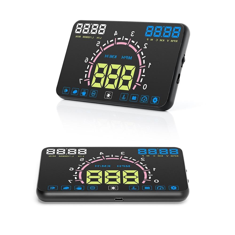 Car Head-up Display HUD LED Windscreen Projector OBD2 Scanner Speed Show Fuel Consumption Display Diagnostic Detect fault code