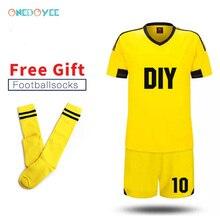 2e78130a689 2019 New DIY Team Soccer Uniforms Customize Men's Football Jerseys Soccer  Kit Youth Kids Football Training