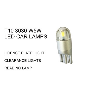 4pcs  t10 led car interior light 2SMD 3030 w5w led automobiles reading dome lamp car side light 12v white 2
