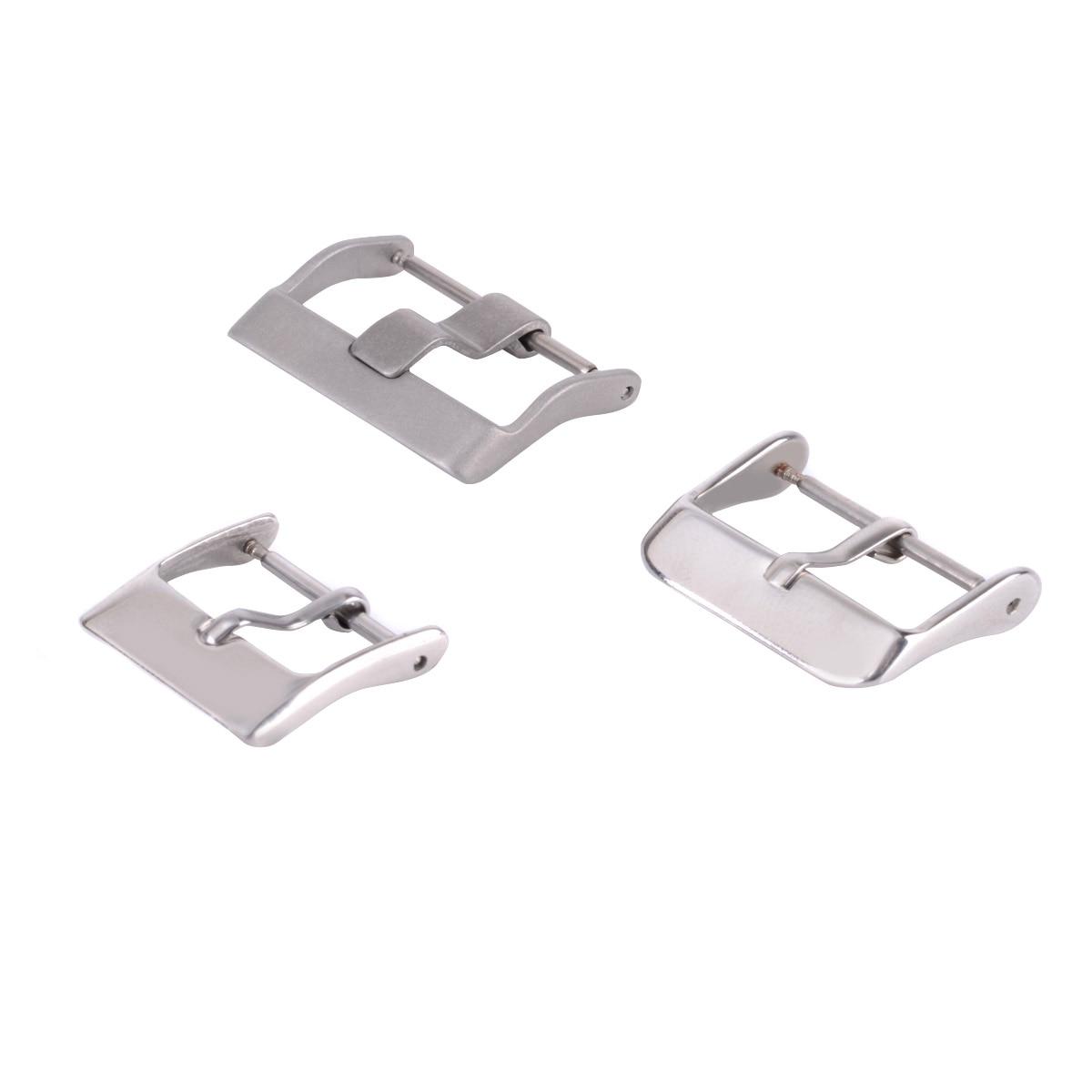 10pcs 18mm / 20mm / 22mm correa de cierre cuadrado de acero inoxidable para bandas de reloj hebillas decoración DIY accesorio correa de reloj broche