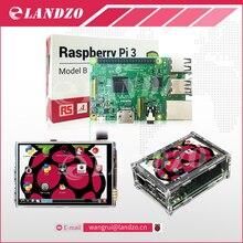 Raspberry Pi 3 Модель B доска + 3.5 «сенсорный ЖК-экран с Stylus + акриловый чехол для Малина PI 3 комплект бесплатная доставка