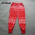 Vermelho Preto Cinza XXXL Unisex de Alta Qualidade Moda Homem Skate Homens soltos Hip Hop Dos Ganhos Bandana Jogger Harem Pants Calças homens