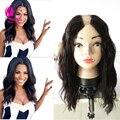 Бразильский 100% девственницы человеческих волос у части парики естественная волна человеческих волос парики средний / сторона Upart волнистые ни парик для чернокожих женщин