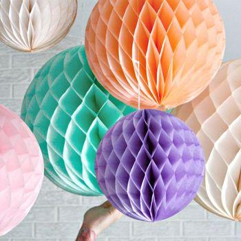 17 kolory 12 ''(30 cm) tkanki kwiaty papierowe piłki pom Poms o strukturze plastra miodu latarnia dekoracji domu świąteczne zaopatrzenie firm ślub Craft