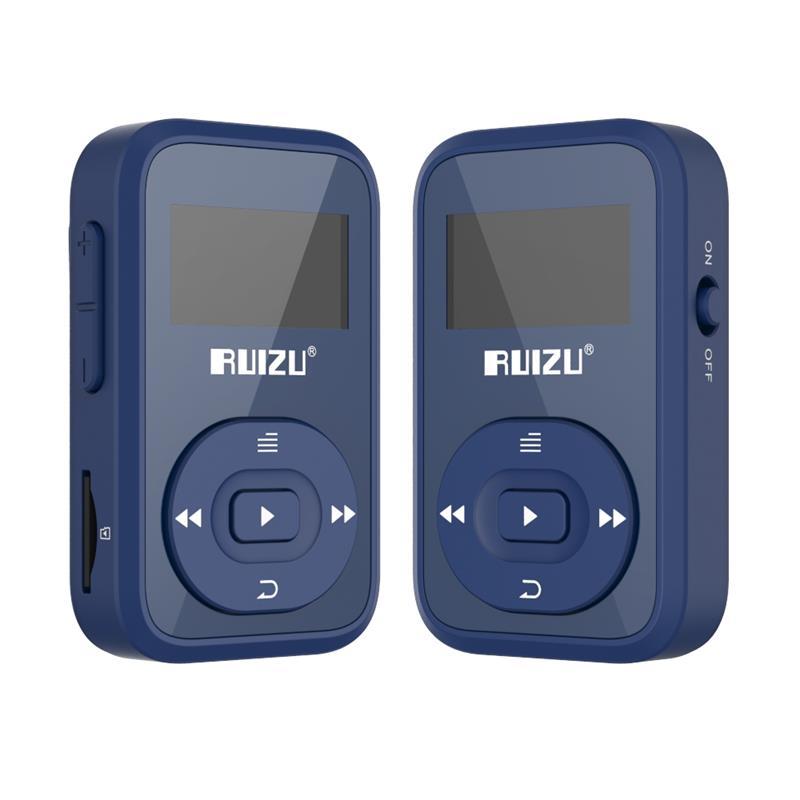 Original RUIZU X26  Newest  Version Clip Bluetooth MP3 Player 8GB Sport Mp3 Music Player With Recorder FM Radio Support TF Card