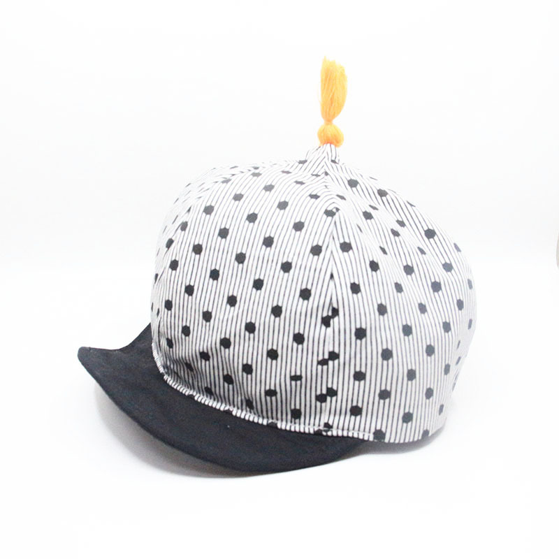 Children Ponytail Baseball Cap Striped Spot Hat Kid A Cap for A Boy Girl Bone Children Casual Panama Hip Hop Sun Snapback Hats