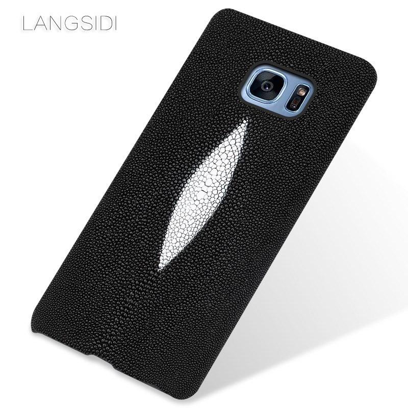 Wangcangli étui de téléphone portable perle poisson demi-paquet de étui de téléphone portable pour Samsung Galaxy S7 coque de téléphone traitement personnalisé