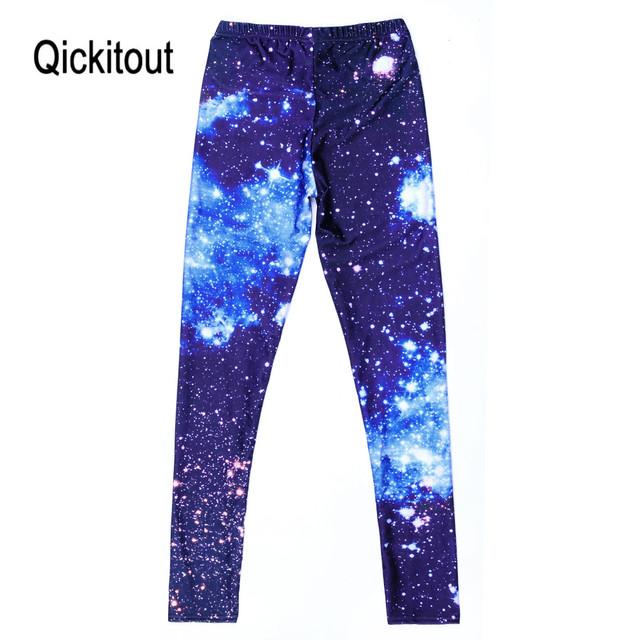 Women Sexy Universe Galaxy Blue Printed Leggings Pants Elasticity Fashion Space