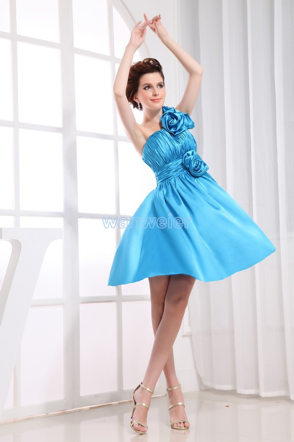 free shipping 2014 formal   dresses   applique new design brides maid   dress   gown custom size/color short blue   Bridesmaid     Dresses