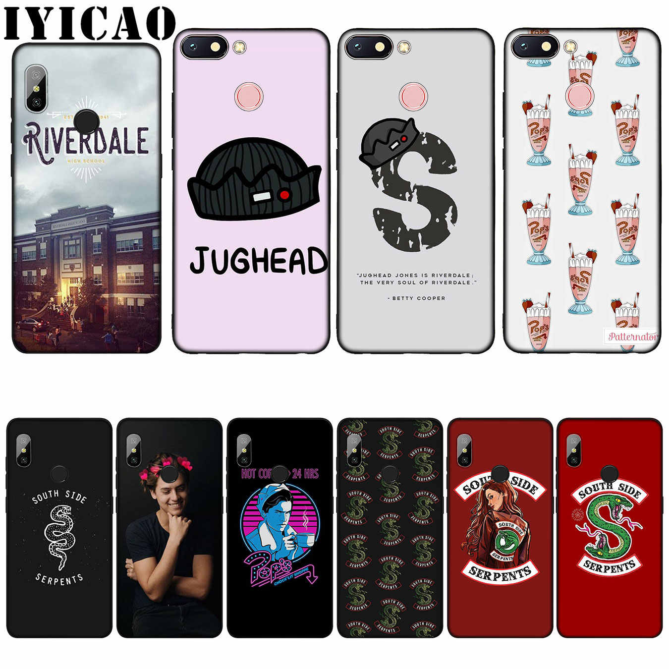IYICAO Riverdale South Side Serpents Silicone Soft Case for Xiaomi Redmi 6A 5A Note 7 4 4X 5 Plus 6 Pro Black TPU Cover