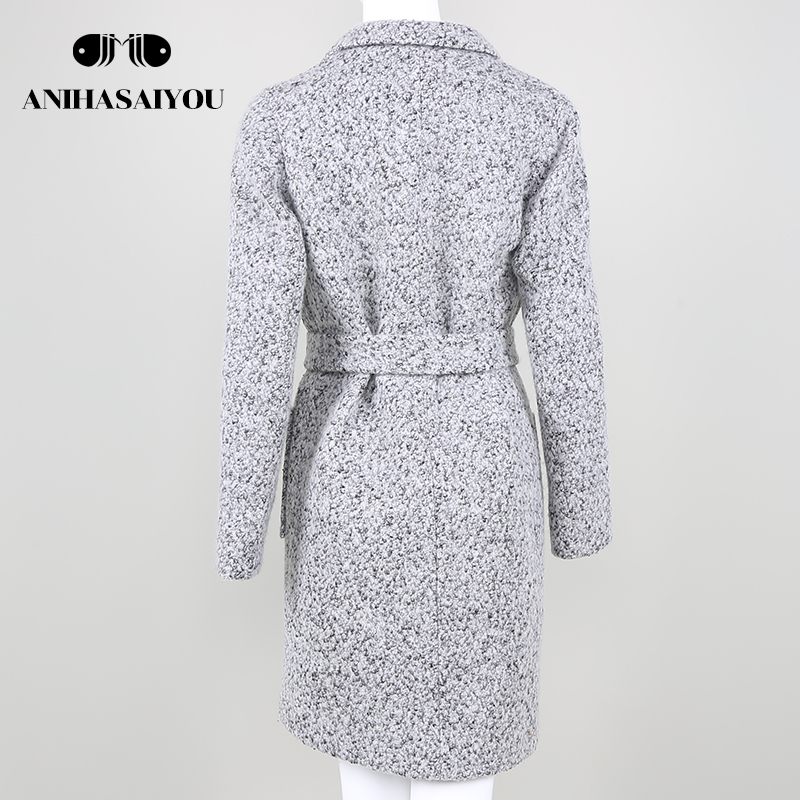 Hot Sale Woman Wool Coat High Quality Winter Jacket Women Slim Woolen Long Cashmere Coats Cardigan Jackets Elegant Woolen coat