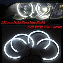 4x131mm Cotton Light Car Angel Eyes Light White LED Angel Eye Halo Ring Turn Signals For BMW E36 E38 E39 E46(China)